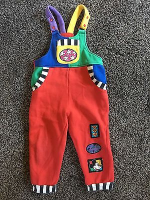 Vintage Mickey Mouse Disney Cotton 4T Romper Overalls