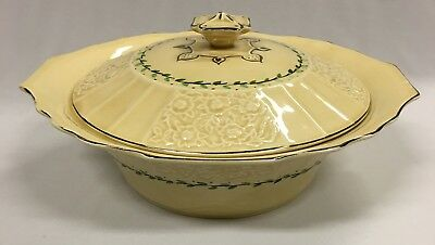 Vintage Myott Hand Painted Vegetable Tureen Staffordshire England 25cm