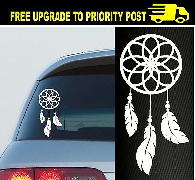 DREAM CATCHER QUOTE STICKER DECAL x2 CAR WINDOW GIRLS CUTE LOVE BELIEVE GIRLY