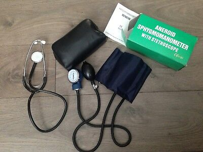 Aneroid Sphygmomanometer 0-300mmHg Manual Blood Pressure Monitor Stethoscope