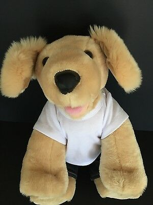 Build A Bear Golden Retrivier Puppy Dog Plush Tan Stuffed Animal & Outfit  BABW