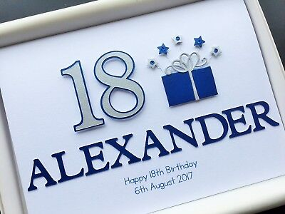 18th BIRTHDAY CARD Son Grandson PERSONALISED HANDMADE Any Message Gift Boxed