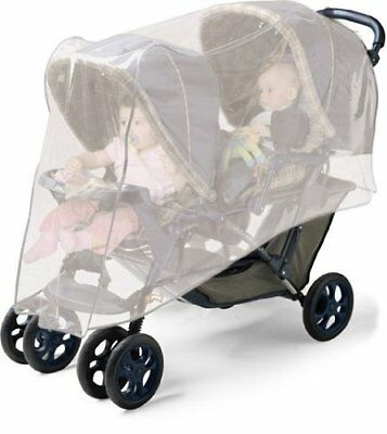 Jolly Jumper Double Stroller Netting, UVB/UBA protection, fits most strollers