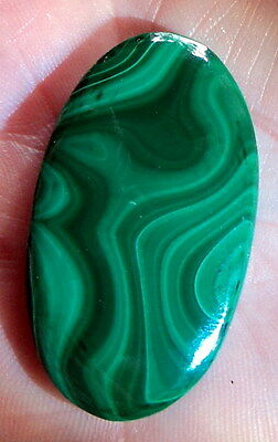 Cabochon pierre fine en Malachite 42x24x6 mm