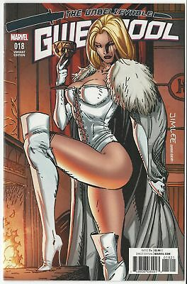 Gwenpool #18 X-Men Card Variant Cover Jim Lee Emma Frost Nm