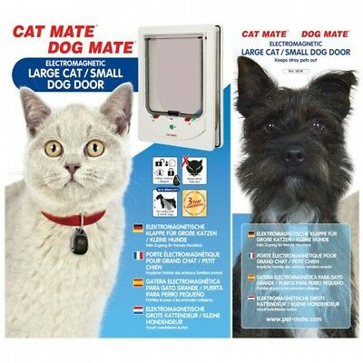 Cat Mate Dog Mate Electromagnetic Large Cat Small Dog Door 363W Magnet Pet Flap