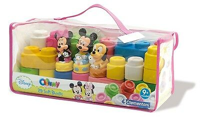 CLEMENTONI BABY 14831 valisette briques souples Mickey Minnie Pluto*NEUF*