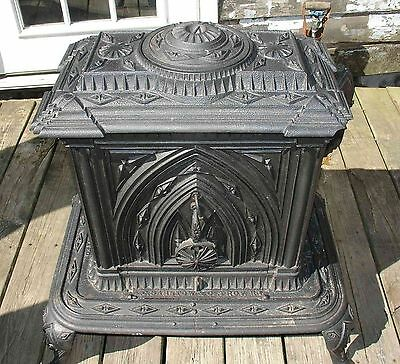 1850 A.C. Barstow & Co. Parlor Stove Antique