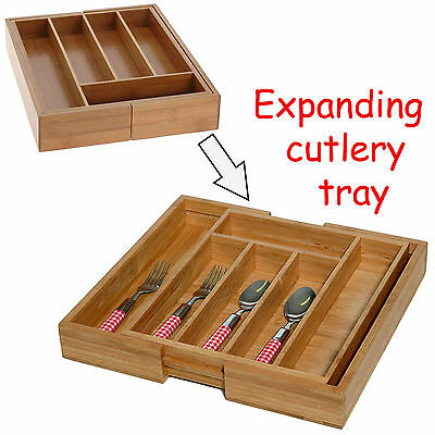 Compartment Expandable Cutlery Tray Holder Tidy Drawer Draw Organiser Storage