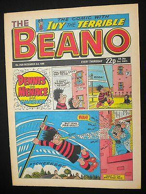 Beano Comic: Nr Mint, 3rd December 1988, 29th Birthday, Month Of Birth Gift Idea