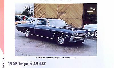 1968 Chevrolet Impala Super Sport SS RPO Z24 427 ci info/specs/photo/prices 11x8