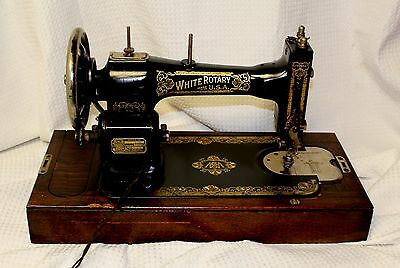 White Family Rotary Electric Sewing Machine, ca. 1928