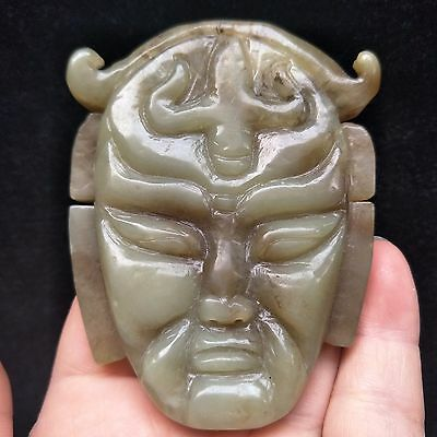 Chinese antiques, manual sculpture, Rare He Tian Jade ancients pendant A430