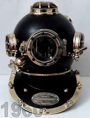 Antique Navy Diving Helmet Boston Deep Sea Divers Scuba Solid Us Decor London