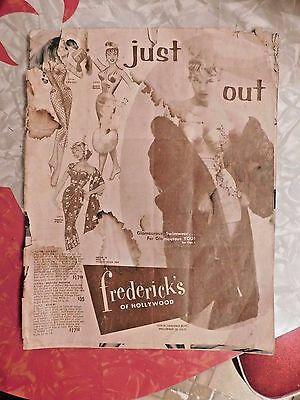 Vintage 1958 Fredericks Of Hollywood Catalog Bullet Bras Bettie Page Style Fashi