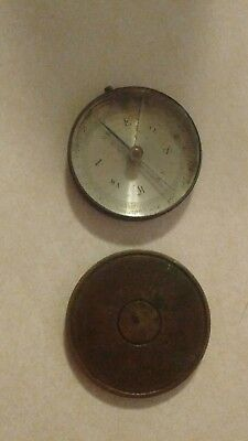 Antique Brass Cased ``made In France`` Compass...
