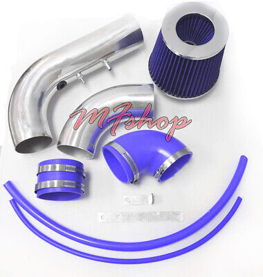 Blue For 2PC 2002-2005 Chevy Cavalier Pontiac Sunfire 2.2L L4 Air Intake Kit