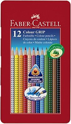 Faber-Castell Tin of 12 Colour GRIP 2001 pencils