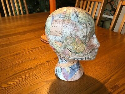 Decoupage Collage Store Display Head Hat Wig Glasses Holder Stand Mannequin