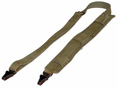 """Army Shoulder Strap With Metal Clips GRADE 2 sling olive strong webbing 1m 40"""""""