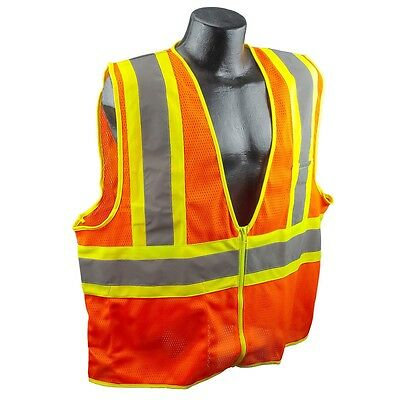 Full Source Class 2 Reflective Mesh Safety Vest with Pockets, Orange