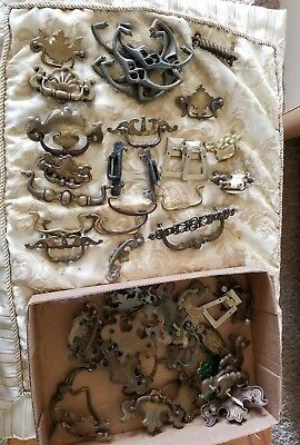 Lot of Antique Vintage Metal Furniture Hardware Drawer Pulls Handles #2