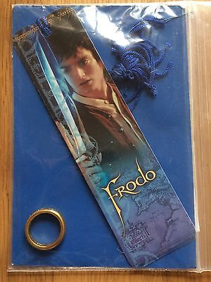 Lord of the Rings Bookmark Frodo Baggins & Ring Replica Beads Tassel gift LOTR