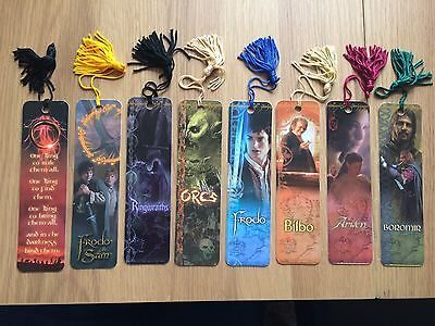 Lord of the Rings Fellowship of the Ring Bookmarks Beads Tassel Gift 2001 LOTR