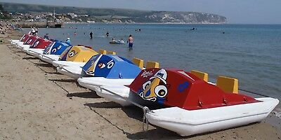 Pedal / Pedal Boat - fibreglass ocean going model with stainless steel mechanism
