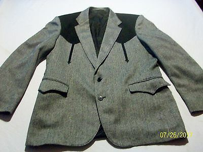 Vintage Circle S Men's Western Gray And Black Sport Jacket Size 42R