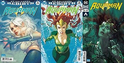 AQUAMAN REBIRTH 26 28 32 Variant Dolphin Mera Joshua Middleton Covers Movie
