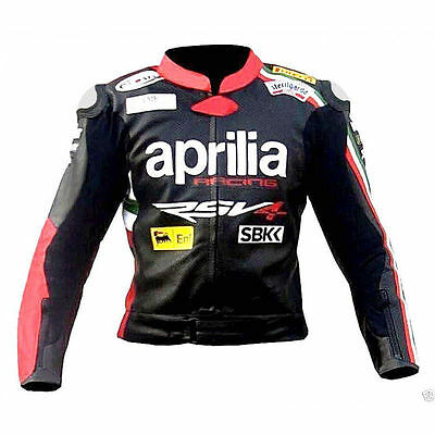 Aprilia Racing Motorbike Leather Jacket Ce Approved Protection