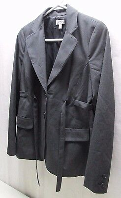 A Pea In The Pod Maternity M Medium Black Suit Coat Jacket Work Wear Dress Belt