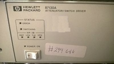 Agilent 87130A Attenuator Switch Driver Interface HP Hewlett Packard Keysight