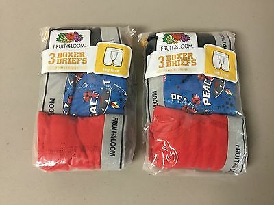 NWT Boy's Fruit Of The Loom (5) Boxer Briefs Size Small 6-8 Multi #667Z