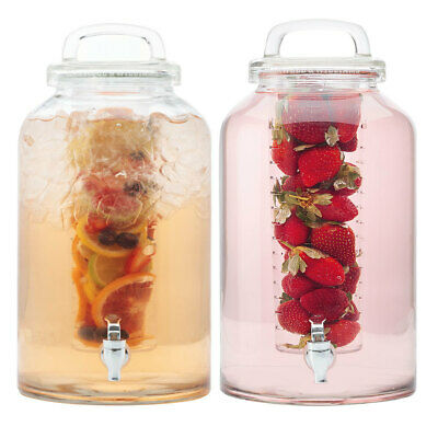 2pc Maxwell & Williams Refresh 8.5L Water Glass Drink Dispenser/Infuser/Beverage