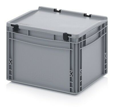 Euro Containers 40x30x28, 5 with Lid Stacking Storage Box Stackable 400x300x285