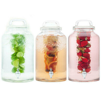 3pc Maxwell & Williams Refresh 8.5L Water Glass Drink Dispenser/Infuser/Beverage