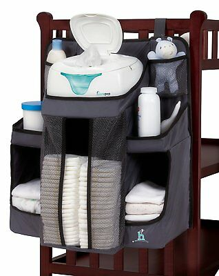 hiccapop Nursery Organizer and Baby Diaper Caddy | Hanging Diaper Organization |