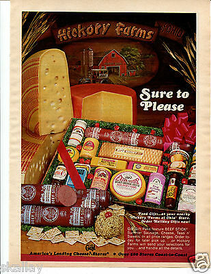 1980 Print Ad of Hickory Farms of Ohio Cheese & Sausage