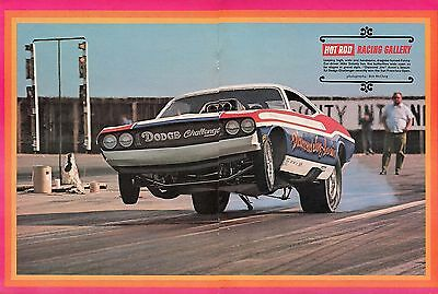 1970 Great Magazine Centerfold Pic of Mike Snively Racing Diamond Jim Annin F/C