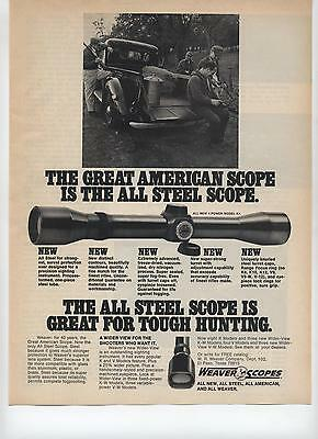 1973 Weaver The Great American All Steel Scope Hunting Print Ad