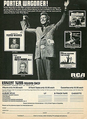 1975 Porter Wagoner Country Music Star Ad Ernest Tubb Record Shop Nashville TN