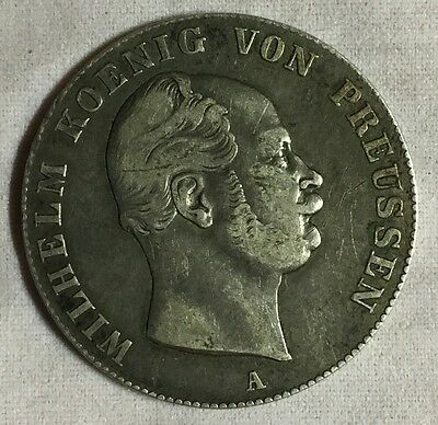German States Prussia 1861A Thaler Silver Coin