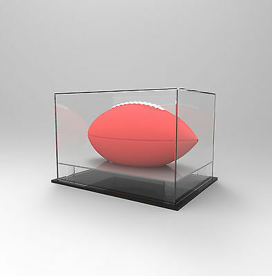 Gridiron/NFL Football Deluxe Display Case -Competition/Autographed Ball- SILVER