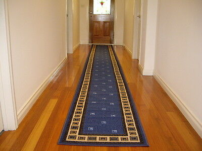 Hallway Runner Hall Runner Rug Modern Blue 4 Metres Long FREE DELIVERY 53645