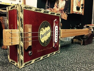 Buzz Box Cigar Box Guitar - Brick House Box