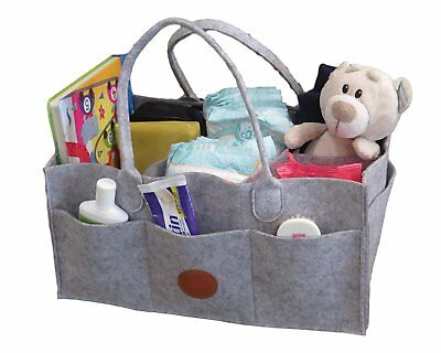 Luxe Baby Diaper Caddy Organizer - Portable Diaper Storage Caddy Bag for Baby -