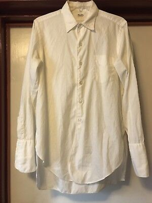 Vintage 1940s 40s Rockabilly Excello Sanforized Dress Shirt Gussets French Cuffs