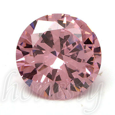 14MM Beautiful Charm Round Cut Pink Sapphire Lustrous Loose Gemstone Gem